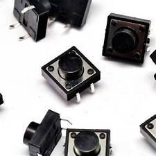 10PCS 12×12×7mm Tact Tactile Push Button Switch DIP-4Pin NEW