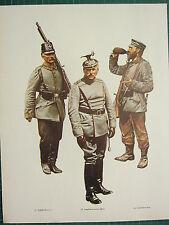 VINTAGE WW1 WWI PRINT ~ PRUSSIA LANDWEHR GERMAN REICH LANDSTURM BATTALION