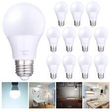 60 Watt Equivalent SlimStyle A19 E27 LED Light Bulb Cool White 6500K 12 Pack 60W