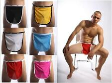 Valentines Mens Mesh Stretch Open Mankini Thong apron panties Underwear Lingerie