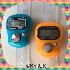 Digital Knitting Row-counter: LCD Tally Counter. 2 Pack (Orange & Turquoise)