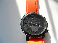 Fossil chronograph mens silicon rubber band,quartz,Analog& battery watch.Jr-1303
