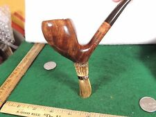 A REAL TRUE PIPE ARTIST .D.R.E. R WOODS REAL ANTLER STACKED CALVIER U.S.A !!