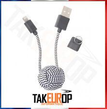 Idéé cadeau - Porte clefs cable chargeur téléphone pour apple iphone ipad MFI