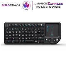 Mini clavier sans fil 2,4 GHz avec pavé tactile pour Android/PC/Console/TV/IPTV