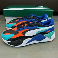 Puma RS-X3 Puzzle White Blue Green Black 371570-15 Men Size 9 New Running Shoe