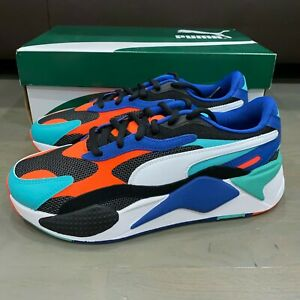 Puma RS-X3 Puzzle White Blue Green Black 371570-15 Men Size 10 New Running Shoe