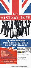 THE HISTORY BOYS A PLAY BY ALAN BENNETT ADVERTISING COLOUR POSTCARD