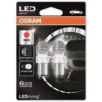 Osram LED P21/5W Car Red Brake Bulbs Bayonet 380R BAY15d 1557R-02B (Twin)