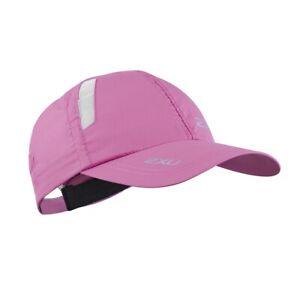 2XU Unisex Run Cap Hat Headwear Pink Sports Running Breathable Lightweight