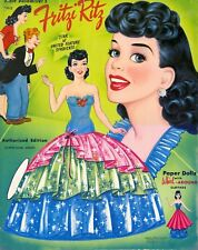 VINTAGE 1950S FRITZI RITZ PAPER DOLL LASER REPRODUCTION~UNCUT LO PRICE NO.1 SELL
