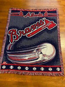 The Northwest Company MLB Atlanta Braves Woven Blanket Throw Baseball A59