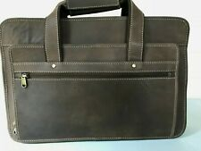 Mens Bag Crazy Horse Leather Shoulder Office Bag Briefcase