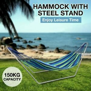 Hortus Metal Hammock With Stand Frame For Garden Outdoor Patio