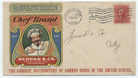 1904 Toledo Ohio Chef Brand Berdan & Co. color ad cover canned goods [y4237]