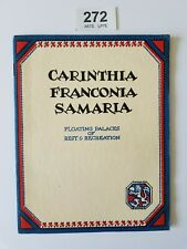 More details for carinthia franconia samaria cunard line floating palaces 1920's lovely brochure