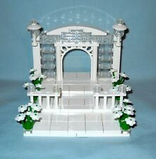 NEW CUSTOM LEGO WEDDING ARCH, STAIRS CAKE TOPPER FOR BRIDE AND GROOM MINIFIGURES