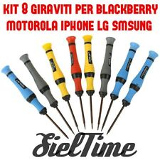 KIT 8 CACCIAVITI TOOLS PER IPHONE 6S PLUS SAMSUNG GALAXY NOTE 4 CROCE PENTALOBE