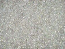 Beads 5mm Round Plastic Clear AB 25g Spacer Shiny Jewellery FREE POSTAGE