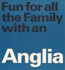 Ford Anglia 105E 1965-66 UK Market Foldout Brochure Standard De Luxe Super Est