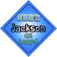 Baby Jackson On Board Car Sign New Boy/Birthday Gift