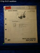 Sony Service Manual ICB 1000 Walkie Talkie Headphones (#2906)