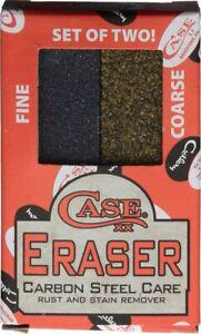 CASE XX BLADE RUST & STAIN ERASER SET - FINE & COARSE