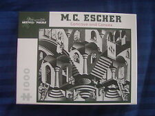 "M C ESCHER ""Concave and Convex"" Jigsaw Puzzle Pomegranate 1000 pc FREE SHIPPING"