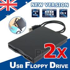 "2X Portable USB Floppy Disk Drive for Laptop PC Win Mac 3.5"" External 1.44MB"