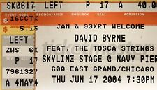 David Byrne Genuine Used Concert Ticket Stub
