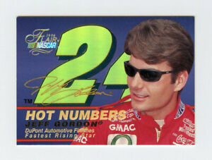 Jeff Gordon 1996 Fleer Flair Hot Numbers Embossed Gold Holofoil Stamping Insert