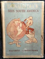 """""""Donald Duck Sees South America""""  1945 Hardcover"""