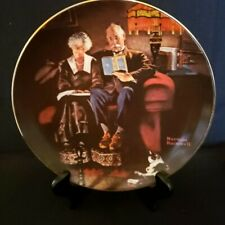 """Norman Rockwell Collector Plate """"Evening's Ease"""" #1818J, Knowles China"""