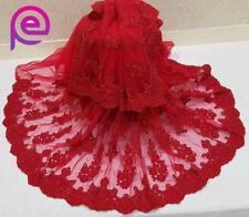 Red Indian Saree Bollywood Wedding Designer NET Embroidery Sari Party Wear Dress
