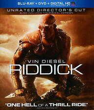 Riddick Blu-ray + DVD, 2 disc set, No digital code -  Vin Diesel