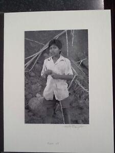 Amazon River Peru Jungle Yaqua Tribe Silver Gelatin Photo #13 Boy Along River