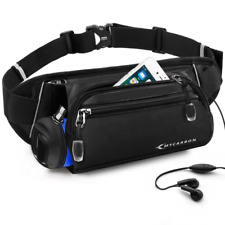 MYCARBON Running Belt with Water Bottle Holder,Waterproof Sport Bum Bag,Cycling
