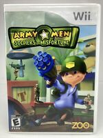 Army Men: Soldiers of Misfortune (Nintendo Wii, 2008) Complete Perfect Condition