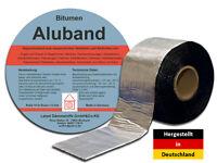 Bitumenband Aluband Dichtband - Breite 75 mm Alufarben