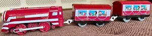 """Trackmaster Thomas & Friends """"Caitlin"""" battery operated engine purple"""