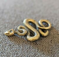 Snake Figurine Made of Brass, Collectible Snake Miniature