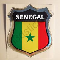 Pegatina Senegal 3D Escudo Emblema Vinilo Adhesivo Resina Relieve Coche Moto