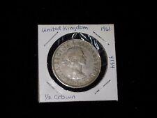 GREAT BRITAIN Half Crown Coin dated 1961 - Copper NIckel - Queen Elizabeth II