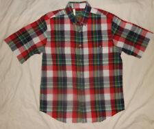 WOOLRICH Woolen Mills Mens M NWT Poplin Plaid S/S Button Down Shirt Rockabilly