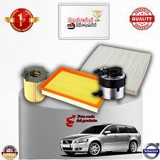KIT TAGLIANDO 4 FILTRI VOLVO V50 1.6 Diesel 80KW 110CV DAL 2005 ->