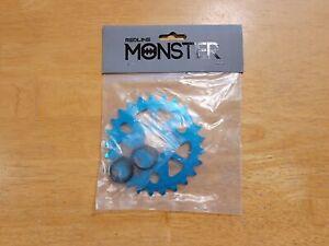 Redline Monster 25T BMX Aluminum Bike Sprocket Ano Blue Chainring 19mm 22mm