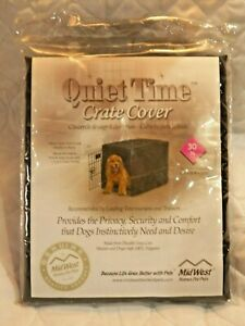 "30"" Medium Dog Crate Pet Cage Kennel COVER Black Quiet Time Breathable"