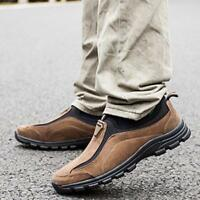 Fashion Men's Hiking Shoes Slip On Casual Sport Athletic Shoes Comfort Moccasins