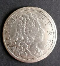 30 Kreuzer 1718 Bayern Maximilian II. Emanuel Silber Münze Sehr schön +