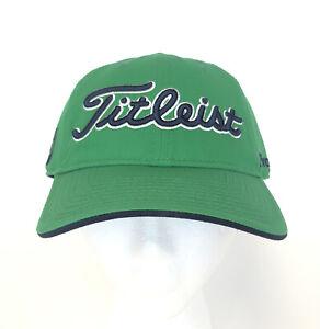 Titleist Pro FJ Footjoy Logo Light Green Hat Cap Adjustable Golf Metal Buckle